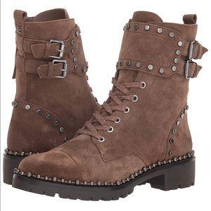 Sam Edelman Jennifer Combat boots in Taupe sz7